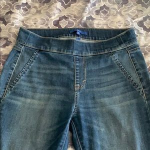 Banded waist stretch jeans 10